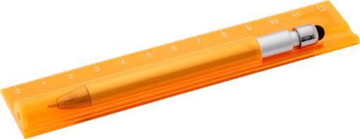 Relatiegeschenk Liniaal met Stylus Pen bedrukken