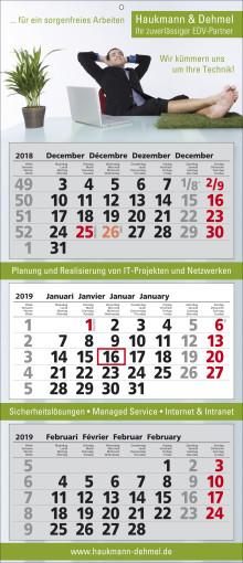 Relatiegeschenk 3-maands wandkalender Classic 3