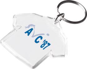 Relatiegeschenk Transparante sleutelhanger T-shirt