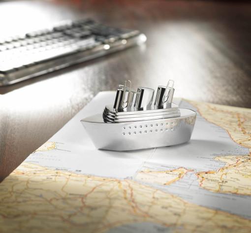 Relatiegeschenk Troika presse-papier Oceanliner bedrukken