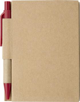 Relatiegeschenk Notitieboekje Eco met balpen
