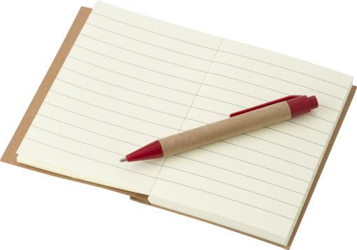 Relatiegeschenk Notitieboekje Eco met balpen bedrukken