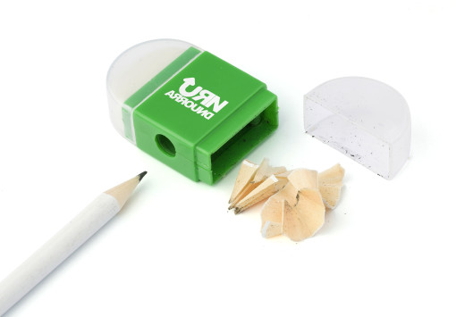 Relatiegeschenk Gum met puntenslijper bedrukken