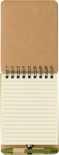 Relatiegeschenk Eco notitieboekje met pen bedrukken