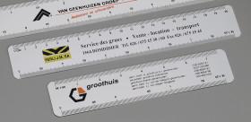 Relatiegeschenk Schaalliniaal 15 cm.