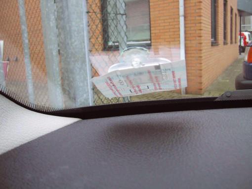 Relatiegeschenk Houder voor parkeerkaartje. bedrukken