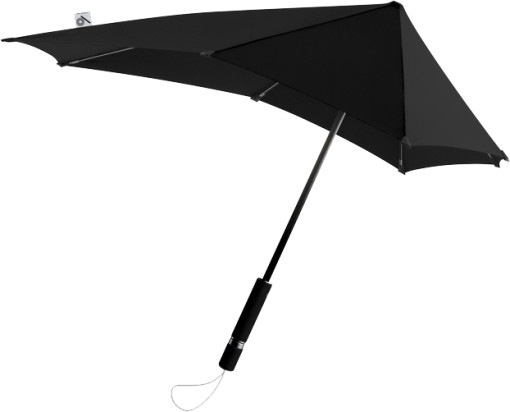 Relatiegeschenk senz° original stormparaplu Limited Edition Black bedrukken
