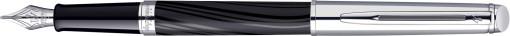 Relatiegeschenk Waterman Hémisphère Deluxe Silky Black CT Vulpen bedrukken