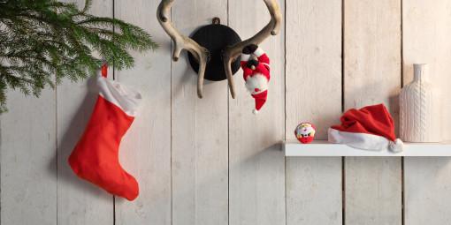 Relatiegeschenk Anti-stressbal Kerstman bedrukken