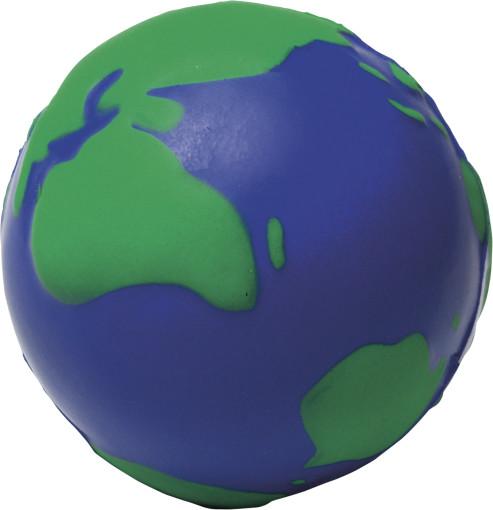 Relatiegeschenk Anti-stress figuur Wereldbol bedrukken