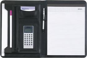Relatiegeschenk A4 schrijfmap met dualpower calculator
