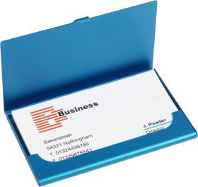 Relatiegeschenk Aluminium visitekaarthouder