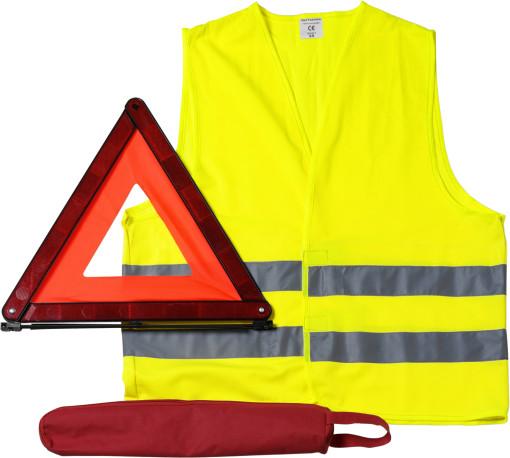 Relatiegeschenk Veiligheidsset voor in de auto bedrukken