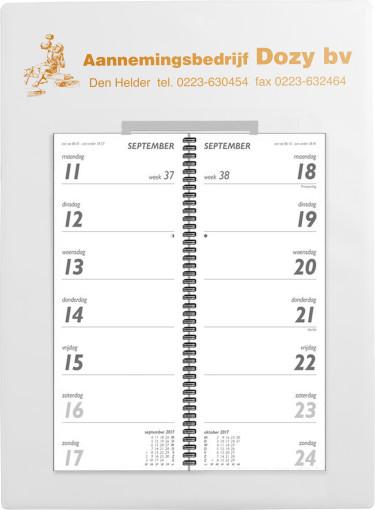 Relatiegeschenk Omlegweekkalender Kunststof bedrukken