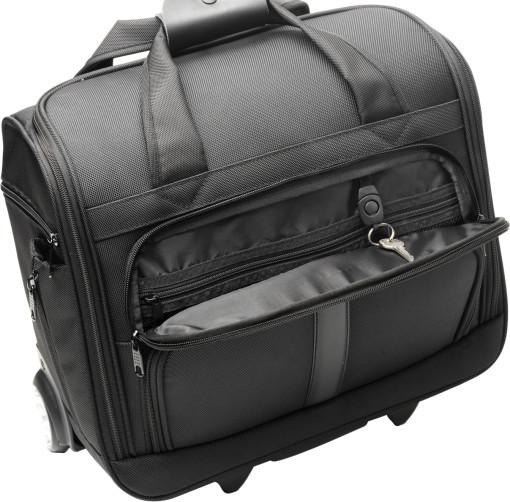 Relatiegeschenk Luxe laptoptas/trolley Genano bedrukken