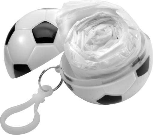 Relatiegeschenk Voetbal met poncho bedrukken