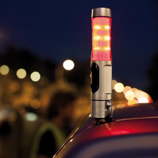 Relatiegeschenk Noodhamer met veiligheidszaklamp bedrukken