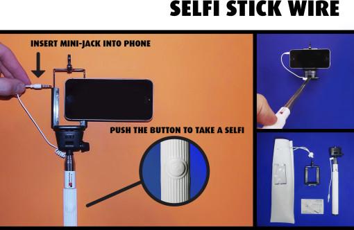 Relatiegeschenk Selfi Stick Wire bedrukken