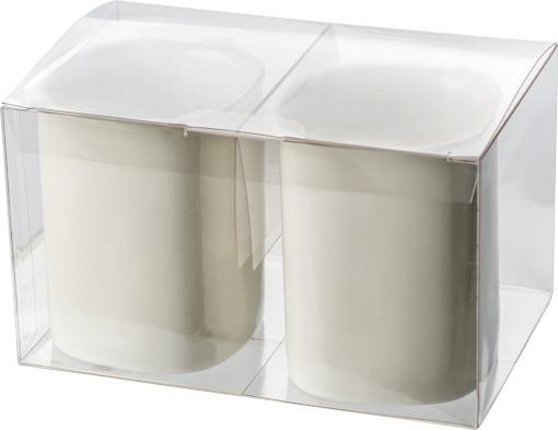 Relatiegeschenk Transparante Giftbox voor 2 mokken